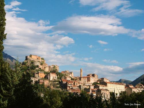 Town of Corte, the heart of Corsican mountains