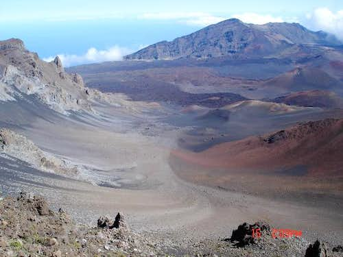 The Haleakala Crater is very...