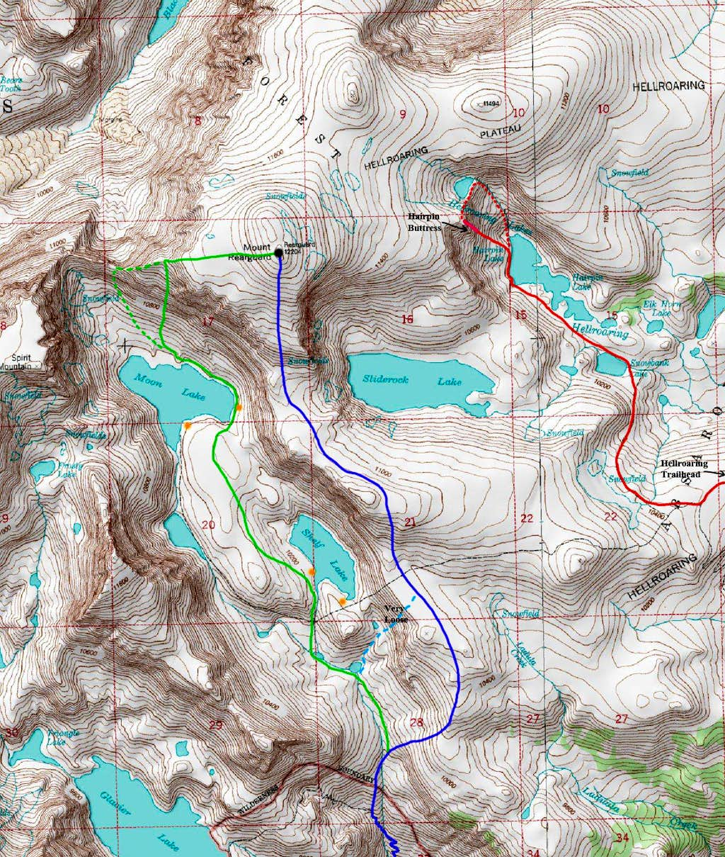 Mount Rearguard Map