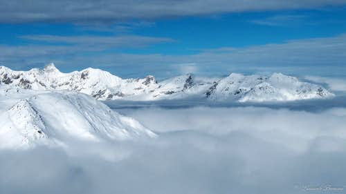 Parseierspitze (3035m) above the clouds