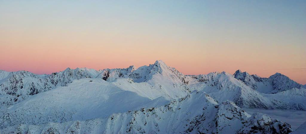 The Tatras after the sunset