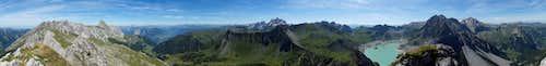 360° summit panorama Schafgafall