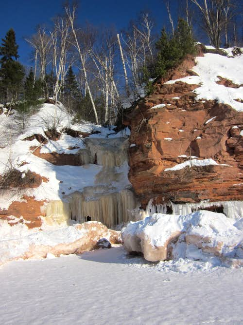 Icy Red Cliffs of Lake Superior