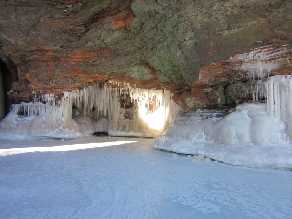 Spectacular Lake Superior Ice Cave