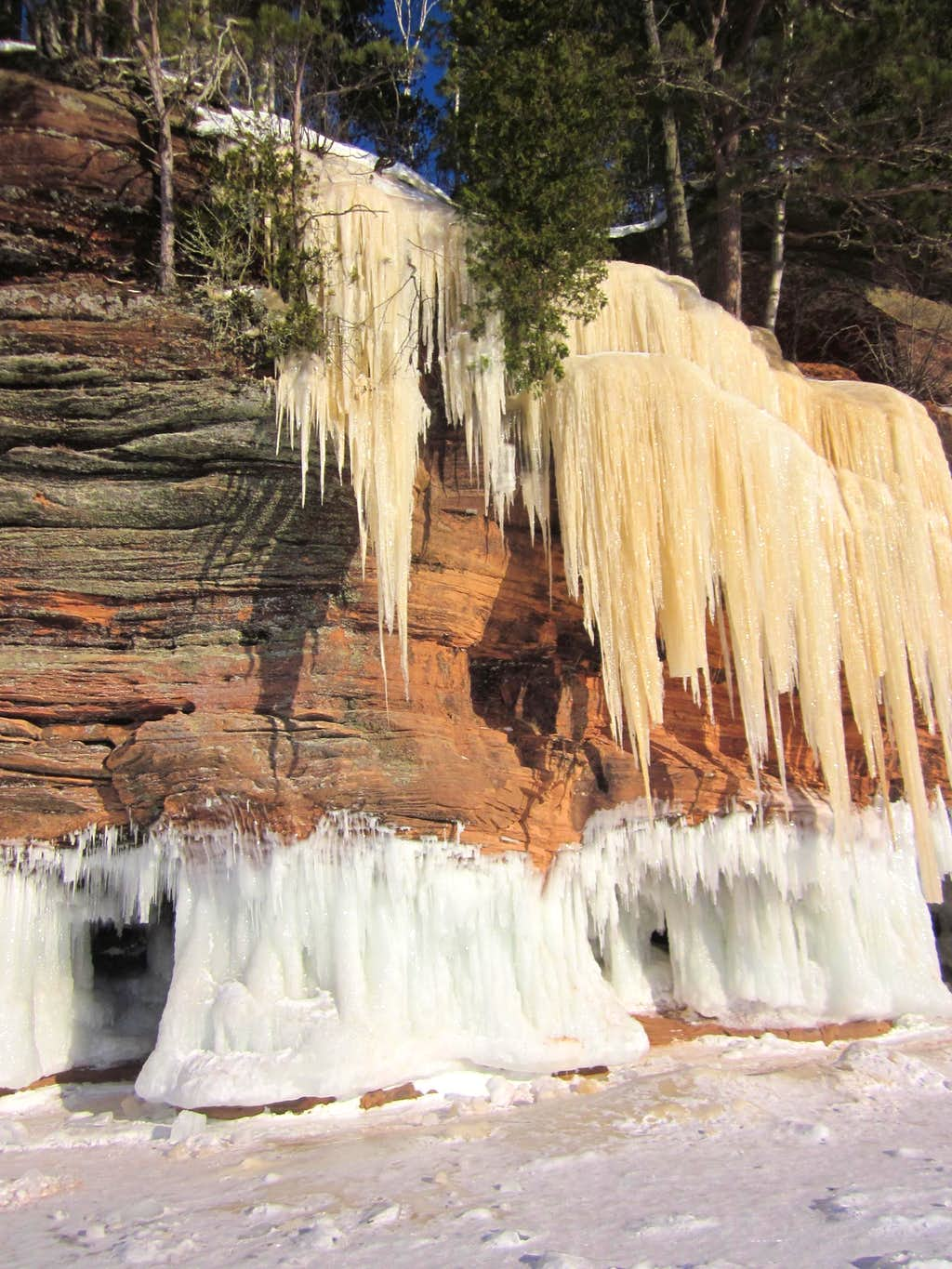 Icicles on Lake Superior