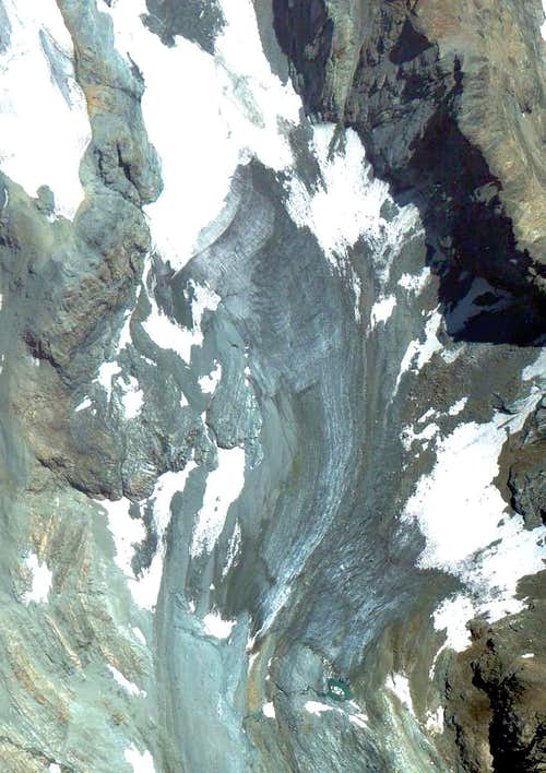 Google Earth  Punta Laurier Noir Glacier