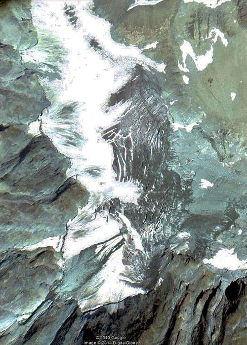 Google Earth  Alto di Oren Glacier