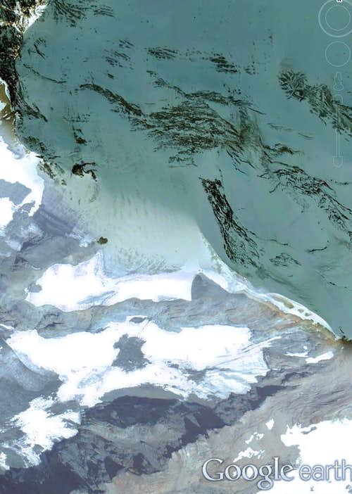 Google Earth  Col Collon Glacier
