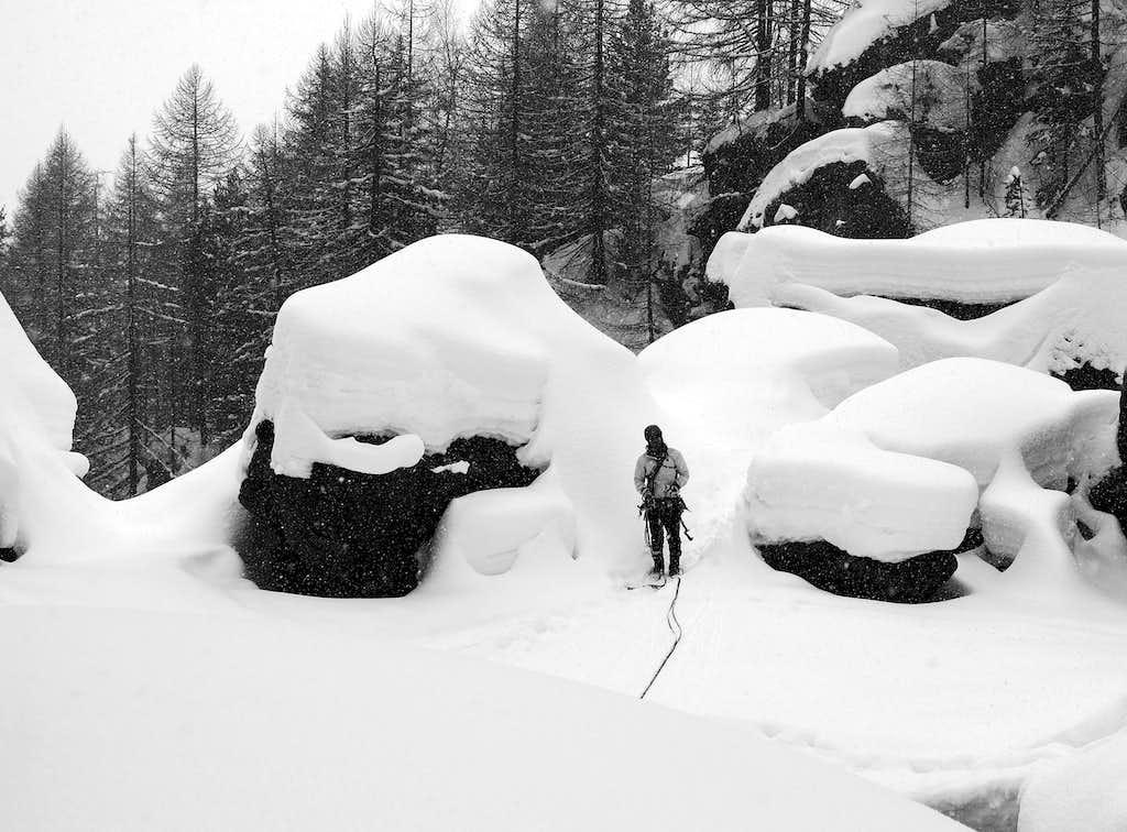 Heavy snowfalls over the Alps...