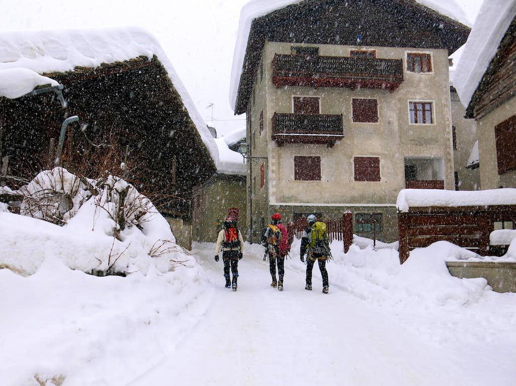 Val di Cogne, village of Lillaz