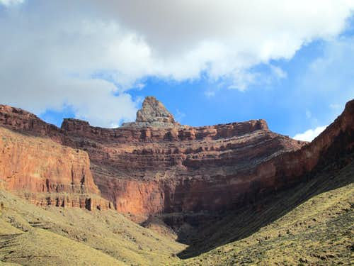 Zororaster Temple seen from Clear Creek, Grand Canyon NP