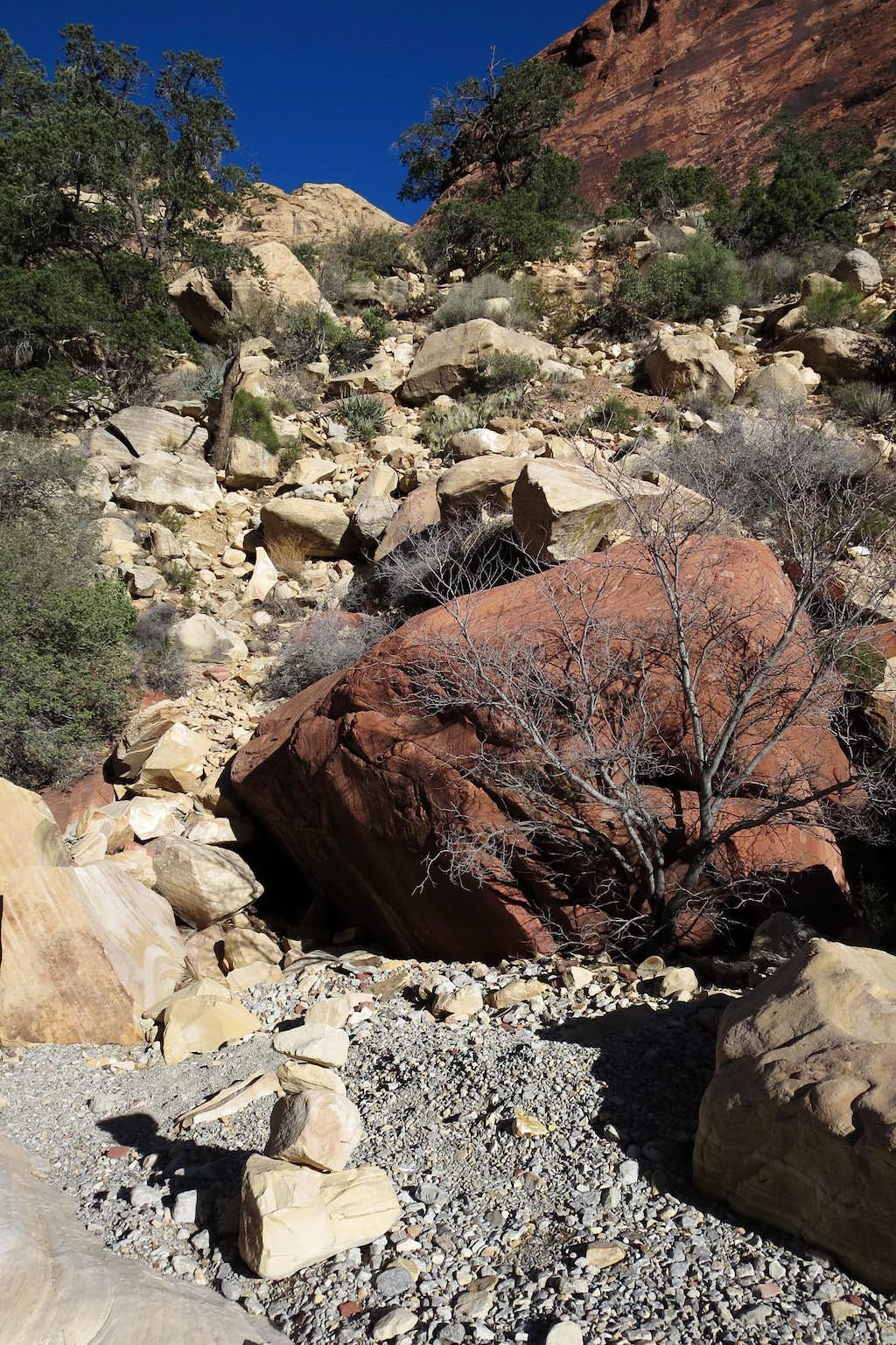 Cairn in First Creek Canyon
