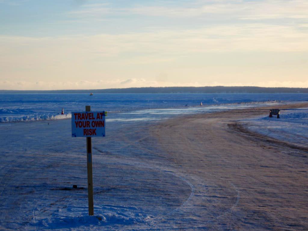 Ice Road to Madeline Island