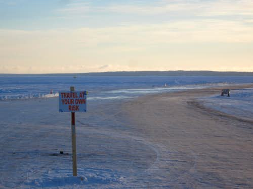 Ice Road to Madeline Island