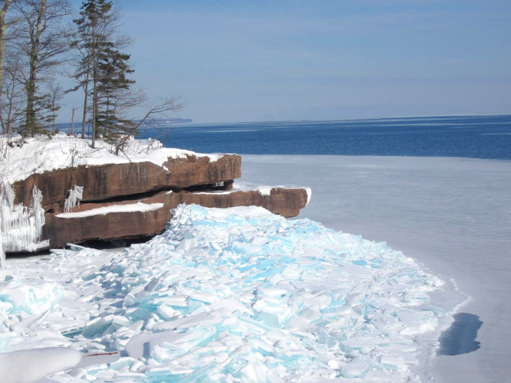 Blue Ice, Red Cliffs - Lake Superior