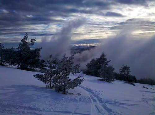 The lifting fog