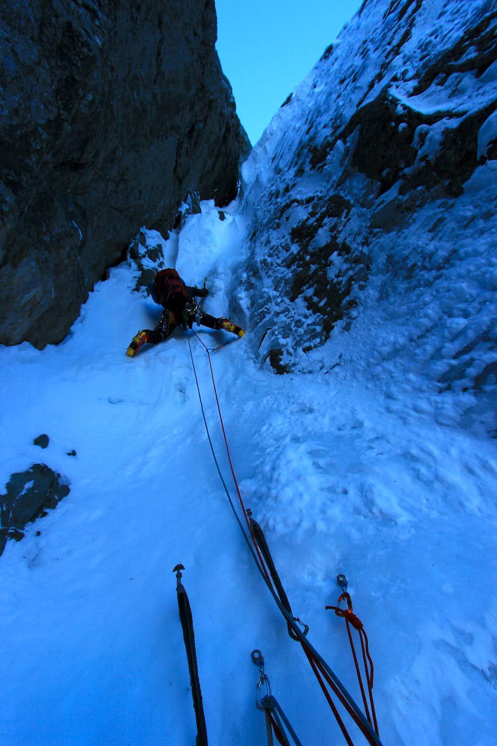 Climbing on Colonel Foster's Direttissima