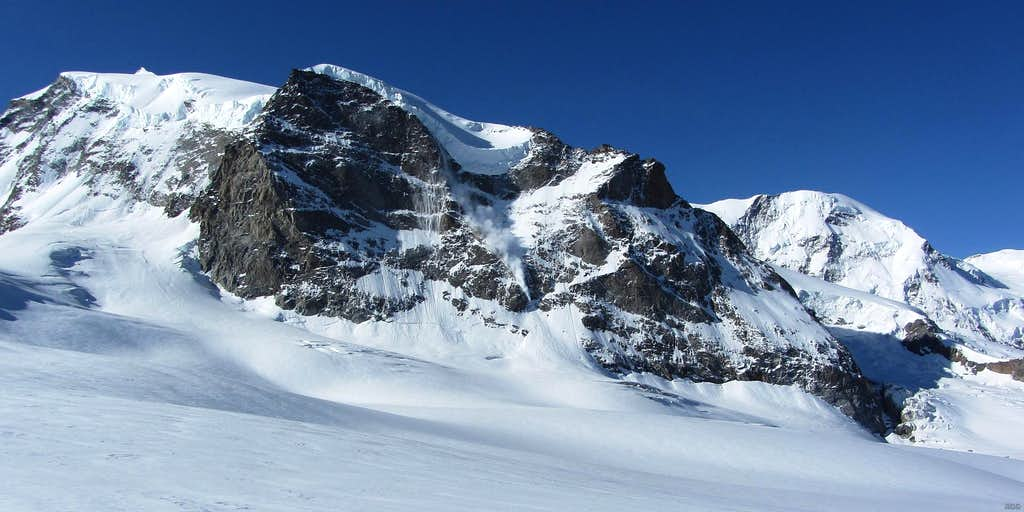 Avalanche on Monte Rosa