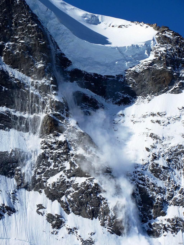 Monte Rosa avalanche closeup series, 1/4