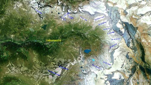 "Google Earth ""Glaciers of Valtournenche Valley (Matterhorn - Monte Cervino)"""