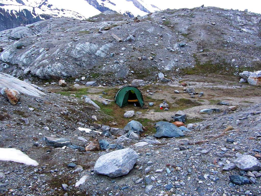 Last camp site in Switzerland