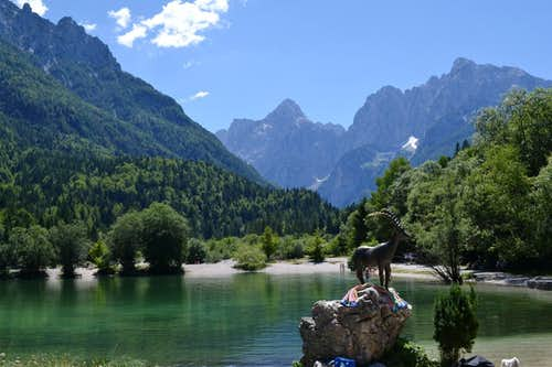 The lake outside Kranjska Gora