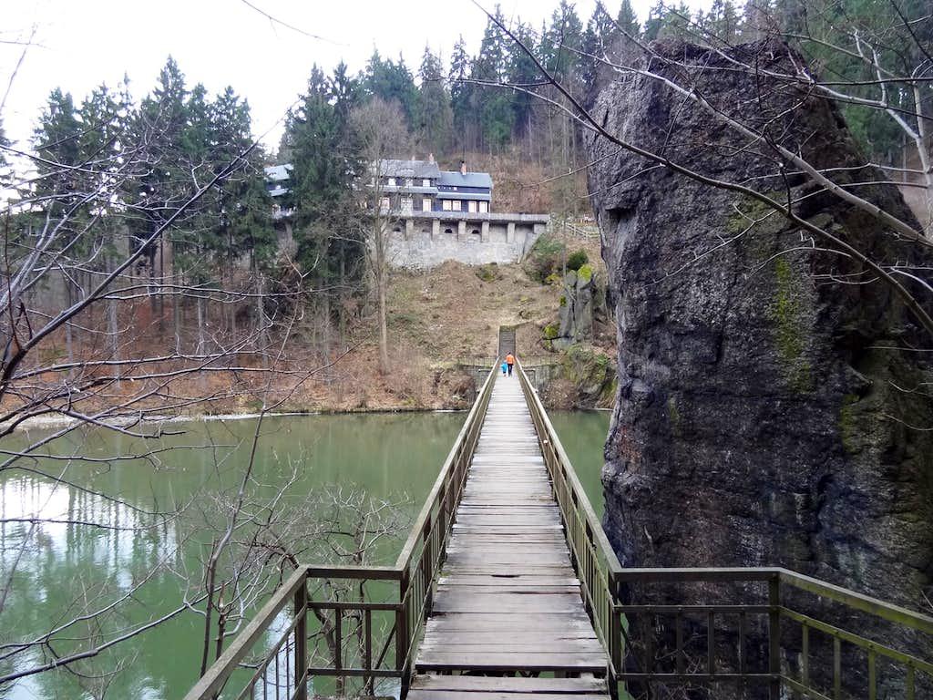 Bridge over the Bóbr near Perla Zachodu