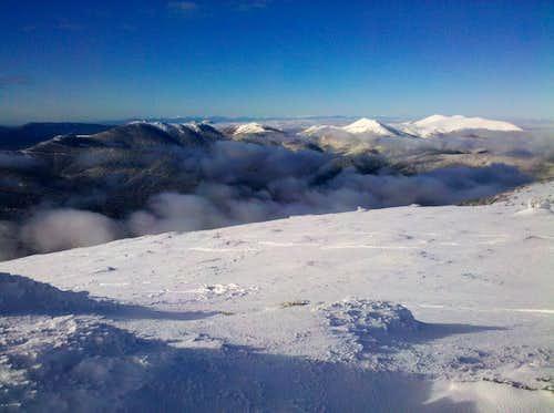 The mountains over Pinar de Valsaín