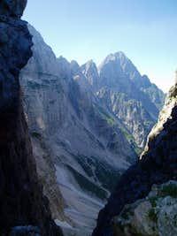 View from Spranje towards Montasio