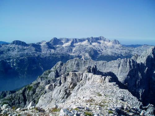 Mt. Kanin seen from the summit of Jof di Fuart