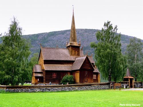 The ancient Lom Stavkyrkje