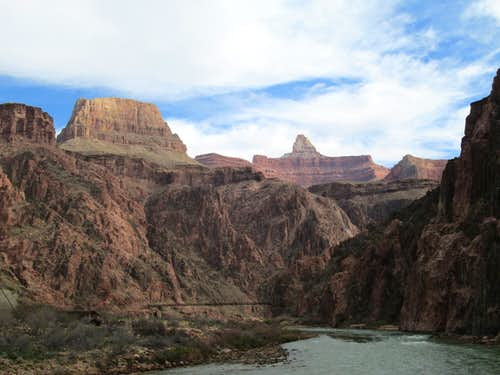 Zoroaster Temple seen from the colorado river, Grand Canyon NP