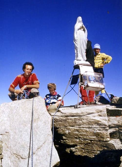 Mountain Friends Christian & Dad on Gran Paradiso 1980