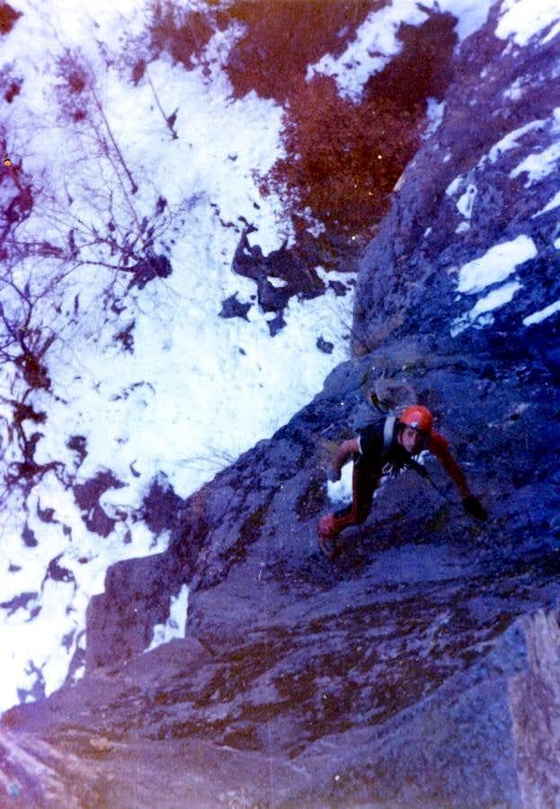 Punta del Dard Lower Walloon Winter Free Climb 1978