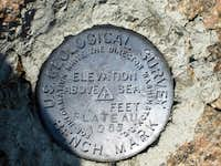 USGS marker on top of Castle Mountain-Beartooth Range