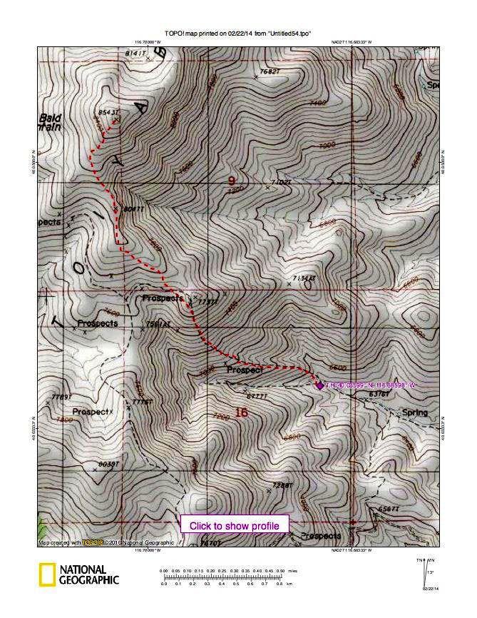 Bald Mountain route