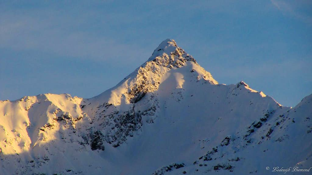 Alpenglow on Feichtener Karlspitze (2918m)