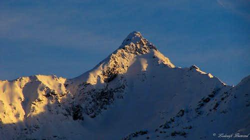 Alpenglow on Feichtener Karlspitze (2918m)