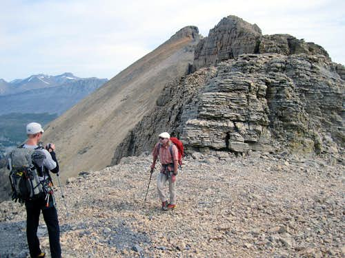 Boundary Peak as seen from the Boundary-Athabasca col