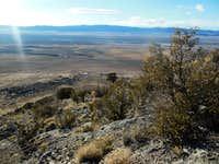 Looking down the ridge line