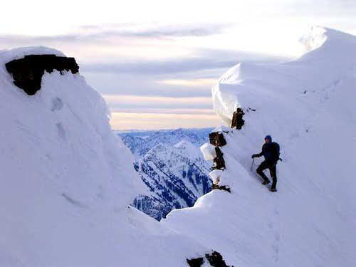 Climbing Everest Ridge on Mt Timpanogos