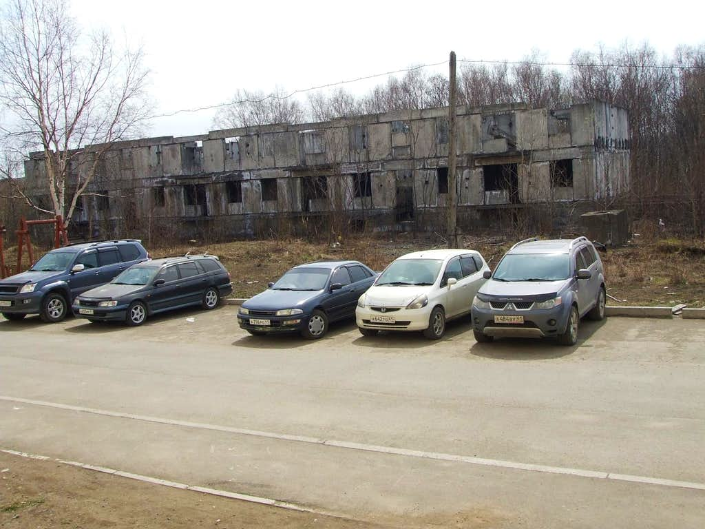 Abandoned building in the back of our hotel. People and industry have been leaving Kamchatka for decades.
