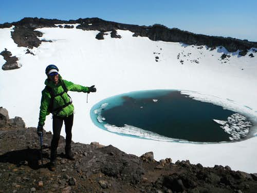 One of the 11 craters on Gorely volcano.