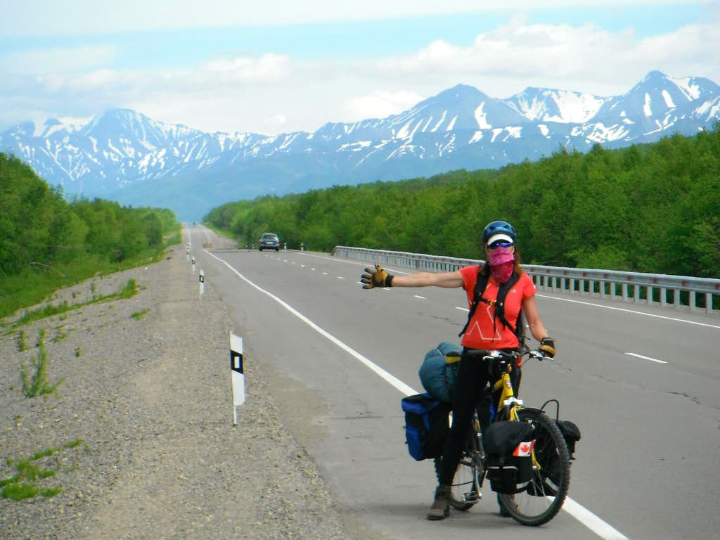 On the highway in Kamchatka.