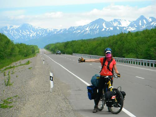 On the highway in Kamchatka.