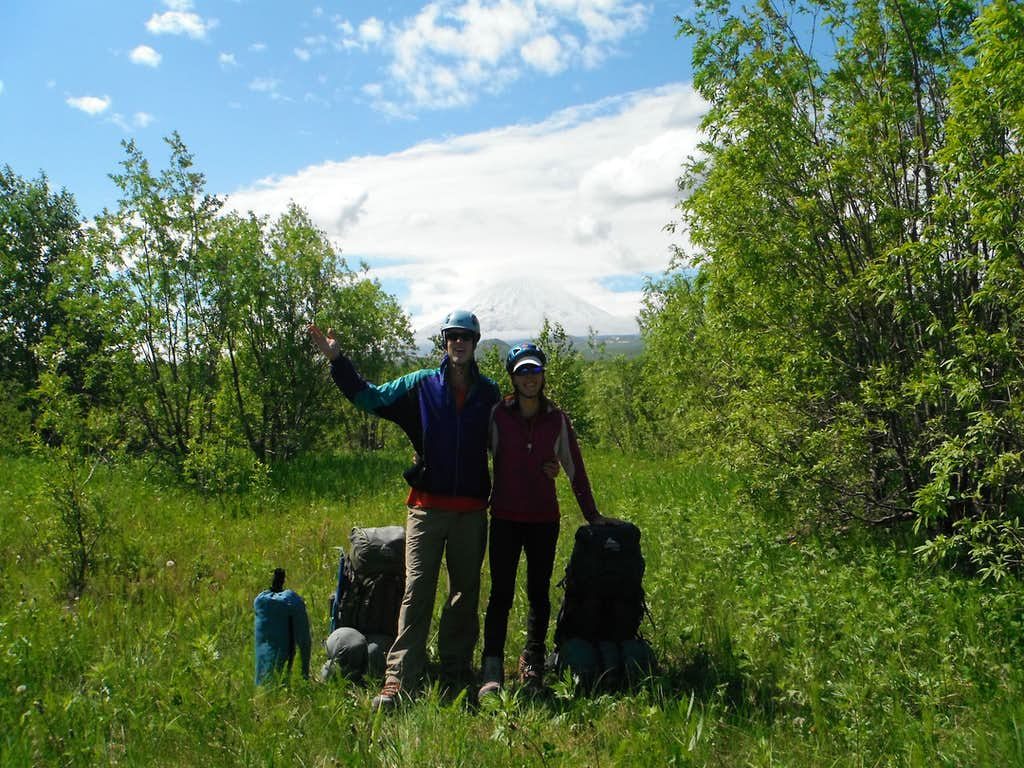 Start of our 17-day mountaineering expedition to Klyuchevskaya.