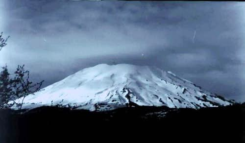 Mt St Helens from the West;...