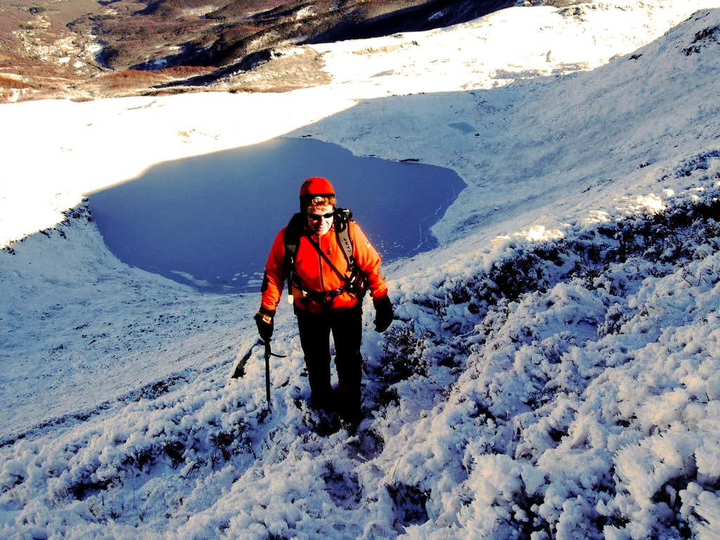 Rime ice over Sillara Northern Lake