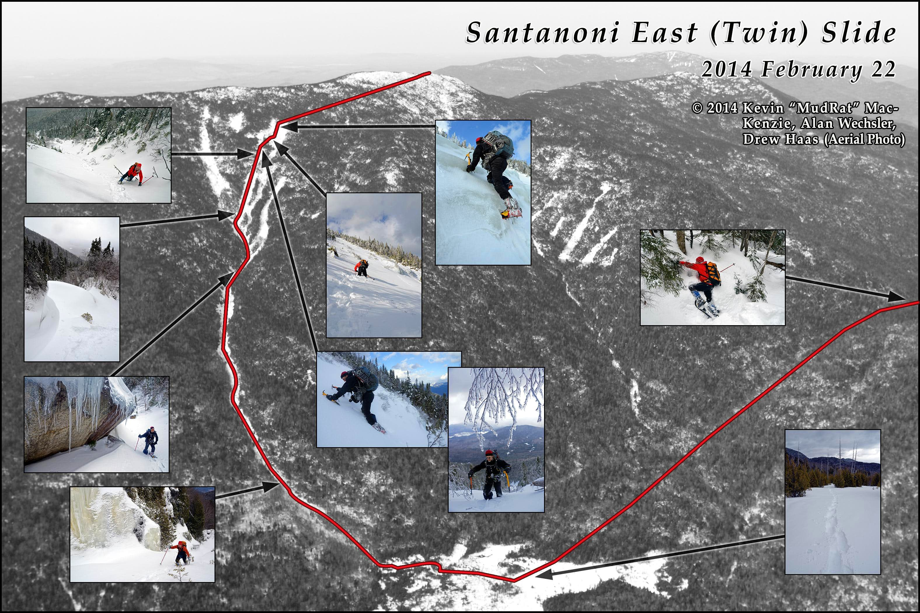 Santanoni Winter Bushwhack via Twin Slide