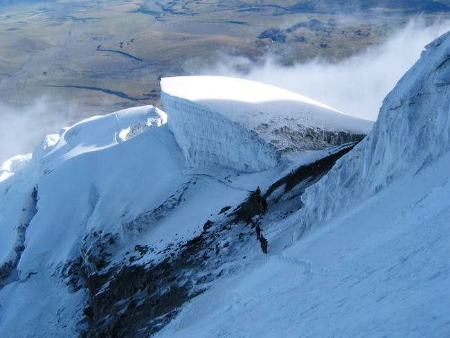 On descent, view of the big...